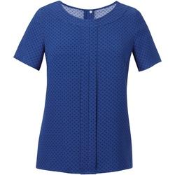 Textil Mulher Tops / Blusas Brook Taverner Crepe De Chine Royal Blue/ Marinha