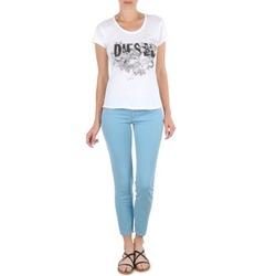 Textil Mulher Calças curtas Diesel LIVIER-ANKLE Azul