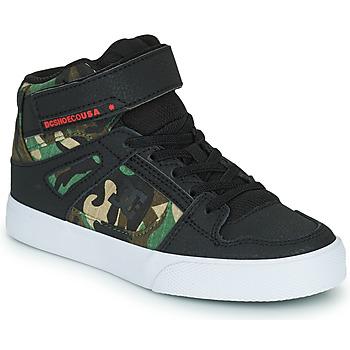 Sapatos Rapaz Sapatilhas de cano-alto DC Shoes PURE HIGH-TOP EV Preto / Camuflagem