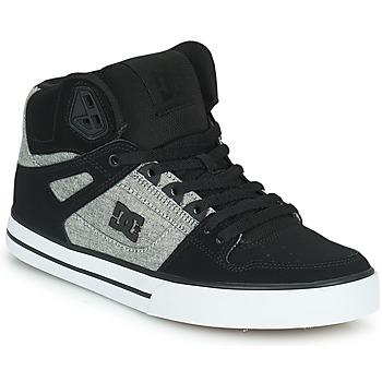 Sapatos Homem Sapatilhas de cano-alto DC Shoes PURE HIGH-TOP WC Preto / Cinza