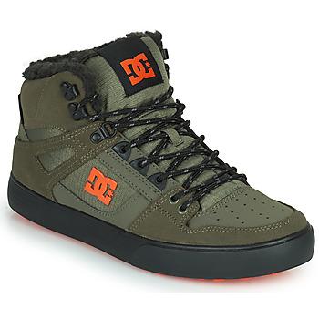 Sapatos Homem Sapatilhas de cano-alto DC Shoes PURE HIGH-TOP WC WNT Cáqui / Preto