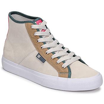 Sapatos Mulher Sapatilhas de cano-alto DC Shoes MANUAL HI SE Bege