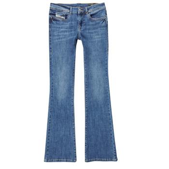Textil Rapariga Calças de ganga bootcut Diesel LOWLEEH Azul