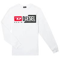 Textil Criança T-shirt mangas compridas Diesel TDIEGOCUTY ML Branco
