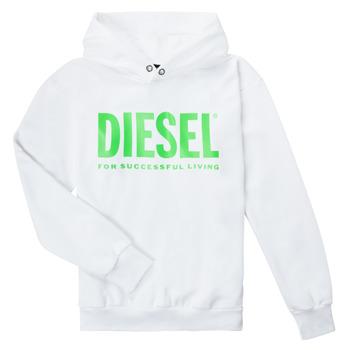 Textil Criança Sweats Diesel SDIVISION LOGOX OVER Branco