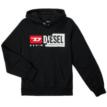 Textil Criança Sweats Diesel SGIRKHOODCUTYX OVER Preto