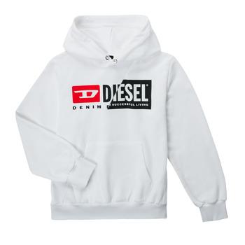 Textil Criança Sweats Diesel SGIRKHOODCUTYX OVER Branco