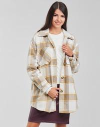 Textil Mulher Casacos/Blazers Vila VIKIMMI Branco / Bege