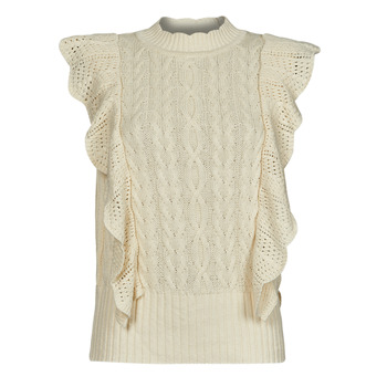 Textil Mulher camisolas Vila VIRUMI Bege