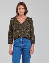 Textil Mulher Tops / Blusas Vila VIZUGI Preto / Amarelo / Azul