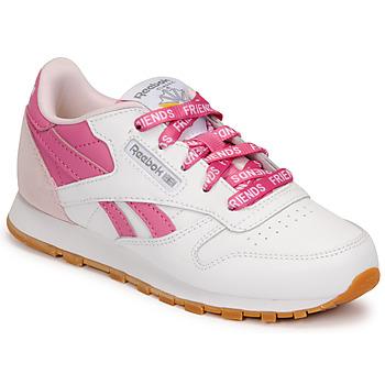 Sapatos Criança Sapatilhas Reebok Classic CL LTHR Branco / Rosa