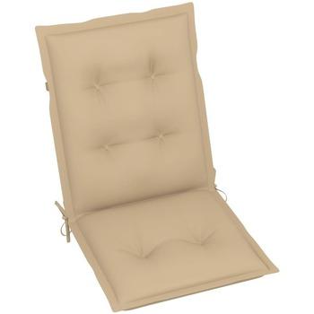 Casa Almofada de cadeira VidaXL Almofadão para cadeira de jardim 100 x 50 x 7 cm Bege