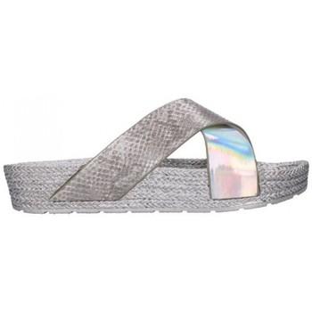 Sapatos Mulher Chinelos Kelara K12033 Mujer Plata Argenté
