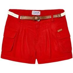 Textil Rapariga Shorts / Bermudas Mayoral  Rojo