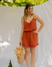 Textil Mulher Macacões/ Jardineiras Céleste NEROLI Terracotta