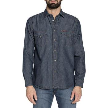 Textil Homem Camisas mangas comprida Carrera - 205-1005A Azul