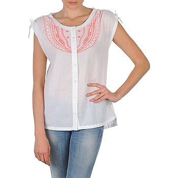 Textil Mulher Camisas mangas curtas Antik Batik AYLA Branco