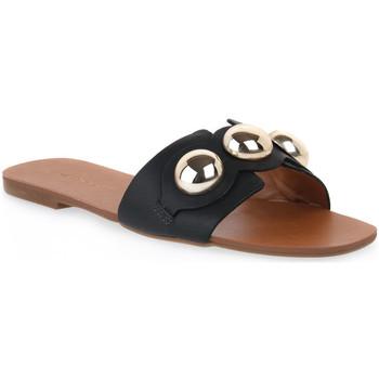 Sapatos Mulher Chinelos Miss Unique UNIQUE   CALF PRETO Nero