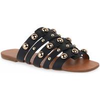 Sapatos Mulher Chinelos Miss Unique UNIQUE OURO CALF PRETO BORCHIE Dorato