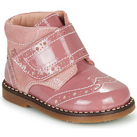 Sapatos Rapariga Botas baixas Citrouille et Compagnie PROYAL Rosa / Verniz
