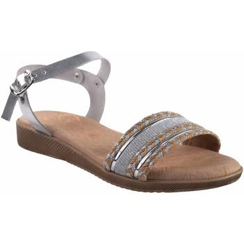 Sapatos Mulher Sandálias Duendy senhora  3205 prata Prata