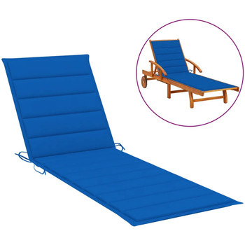 Casa Almofada de cadeira VidaXL Almofadão para espreguiçadeira 200 x 50 x 4 cm Azul
