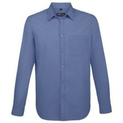 Textil Homem Camisas mangas comprida Sols BALTIMORE FIT AZUL Azul