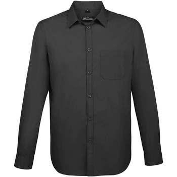 Textil Homem Camisas mangas comprida Sols BALTIMORE FIT GRIS TITANIO Otros