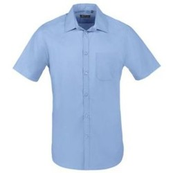 Textil Homem Camisas mangas curtas Sols BRISTOL FIT Azul Medio Azul