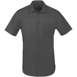 Textil Homem Camisas mangas curtas Sols BRISTOL FIT Gris Titanio Gris