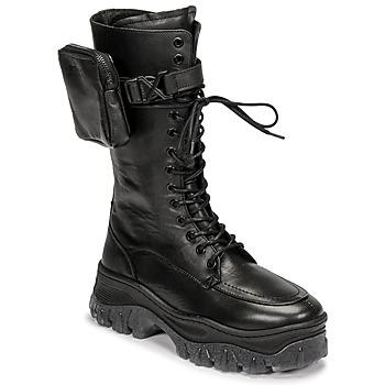 Sapatos Mulher Botas baixas Bronx JAXSTAR HIGH Preto