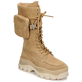 Sapatos Mulher Botas baixas Bronx JAXSTAR HIGH Bege