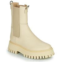 Sapatos Mulher Botas baixas Bronx GROOV Y Bege