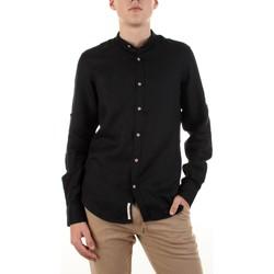 Textil Homem Camisas mangas comprida Yes Zee C506-U400 Preto