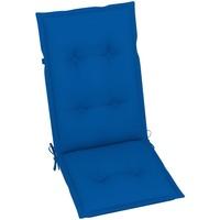 Casa Almofada de cadeira VidaXL Almofadão para cadeira de jardim 120 x 50 x 7 cm Azul