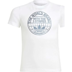 Textil Rapaz T-Shirt mangas curtas adidas Originals - T-shirt bianco GN4121 BIANCO