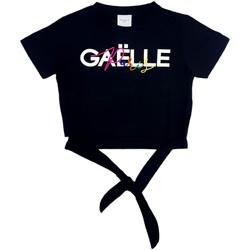 Textil Rapariga Tops / Blusas GaËlle Paris - T-shirt nero 2746M0341 NERO