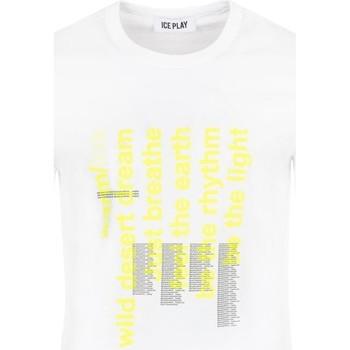 Textil Homem T-Shirt mangas curtas Ice Play - T-shirt bianco F085 P400 1101 BIANCO