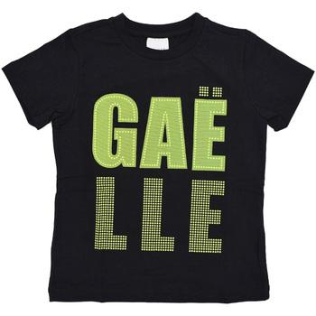 Textil Rapaz T-Shirt mangas curtas GaËlle Paris - T-shirt nero/giallo 2746M0321 N/G NERO