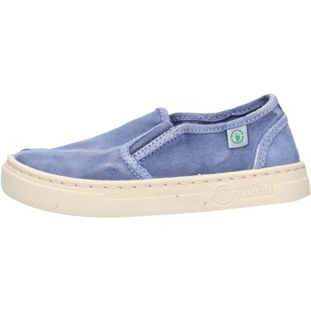 Sapatos Rapaz Slip on Natural World - Slip on  blu 6472E-690 BLU