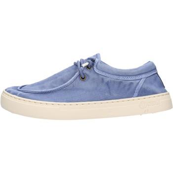 Sapatos Homem Mocassins Natural World - Sneaker celeste 6605E-690 CELESTE