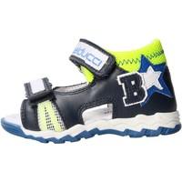 Sapatos Rapaz Sandálias Balducci - Sandalo blu/giallo CSPO4500 BLU
