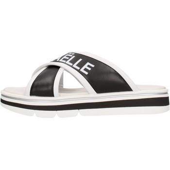 Sapatos Rapaz Chinelos GaËlle Paris - Sandalo nero/bco G-843 NERO-BIANCO