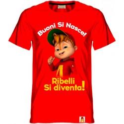 Textil Rapaz T-Shirt mangas curtas Alvin Rebel - T-shirt rosso AR/001/RED ROSSO