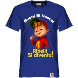 Textil Rapaz T-Shirt mangas curtas Alvin Rebel - T-shirt blu AR/001/BLU BLU