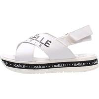 Sapatos Rapaz Sandálias GaËlle Paris - Sandalo bianco G-821 BIANCO