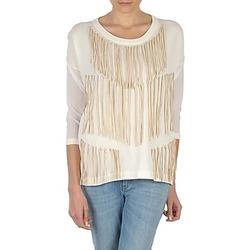 Textil Mulher T-shirt mangas compridas Eleven Paris ANGIE Branco