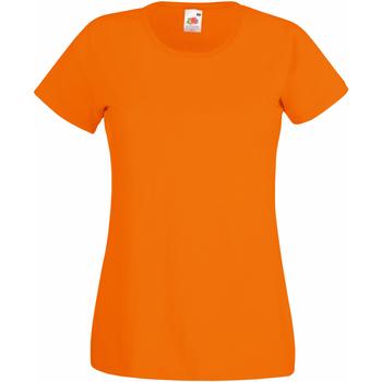 Textil Mulher T-Shirt mangas curtas Fruit Of The Loom 61372 Orange