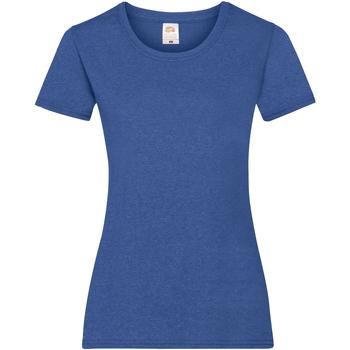 Textil Mulher T-Shirt mangas curtas Fruit Of The Loom 61372 Retro Heather Royal