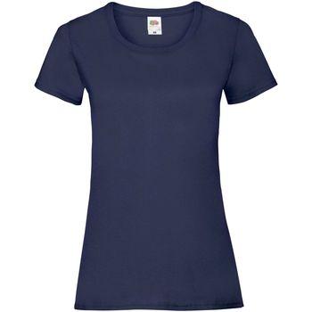 Textil Mulher T-Shirt mangas curtas Fruit Of The Loom 61372 Marinha Profunda
